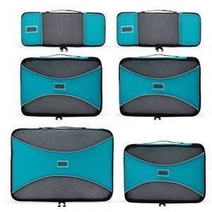 PRO Packing Cubes | Ensemble économique de sacs de rangement de voyage 6 pièces | Sacs économisant 30% de place | Organiseurs de bagage ultralégers | Idéal pour les sacs de voyage & valises de cabine de la marque Pro Packing Cubes image 0 produit