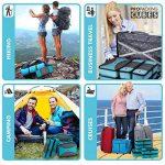 PRO Packing Cubes   Ensemble économique de sacs de rangement de voyage 6 pièces   Sacs économisant 30% de place   Organiseurs de bagage ultralégers   Idéal pour les sacs de voyage & valises de cabine de la marque Pro Packing Cubes image 3 produit