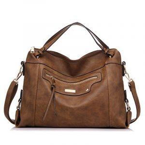 Realer grand sac en cuir PU de taille pour les femmes Office Shoulder Bag de la marque Realer image 0 produit