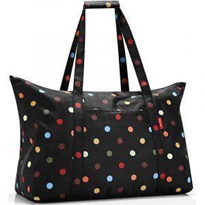 reisenthel mini-maxi sac de voyage - achats sac pliable - sac de voyage pliable - sac à provisions - motif noir avec des points colorés AG7009 de la marque Reisenthel image 0 produit