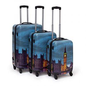 Relaxdays Lot de 3 valises 36, 58 & 90 L roulettes Valise À roulettes 360°, motifs bariolés de la marque Relaxdays image 0 produit