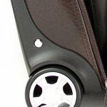 S Babila - Bagage à roulettes taille cabine - professionnel - compartiment pour ordinateur portable - cuir - cognac de la marque S Babila image 5 produit