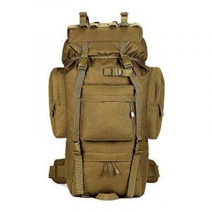 Sac à dos avec plusieurs poches en nylon Sac tactique militaire Sac de voyage Sac de montagne Sac de Camping en Plein Air tactique Sac bandoulière multifonction Sac de randonnée pour Homme et Femme 65L de la marque Baigio image 0 produit