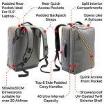 Sac à dos Cabin Max Oxford 50x40x20cm Carry On – Sac à dos à Bretelles Rangeables de la marque Cabin Max image 2 produit