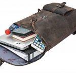 """Sac à dos - Gusti Cuir studio """"Nolan"""" backpack bagage à main vintage bagage cabine rétro homme femme cuir de buffle marron foncé 2M23-20-4wp de la marque Gusti Cuir studio image 2 produit"""