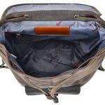"""Sac à dos - Gusti Cuir studio """"Nolan"""" backpack bagage à main vintage bagage cabine rétro homme femme cuir de buffle marron foncé 2M23-20-4wp de la marque Gusti Cuir studio image 3 produit"""