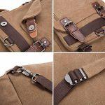 Sac bandoulière Sac à dos en toile minceSac Messenger zippé pour femme et homme de la marque GENOLD image 5 produit