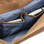 "Sac business - Gusti Cuir studio ""Philipp"" sac ordinateur portable 15.6"" sac business vintage sac notebook rétro homme femme cuir de buffle marron clair 2B15-20-5wp de la marque Gusti Cuir studio image 5 produit"