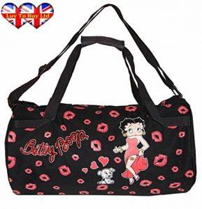 """Sac de sport brillant à lèvres Betty Boop, sac à main, épaules, sac de voyage, marque 17 """" de la marque Betty Boop image 0 produit"""