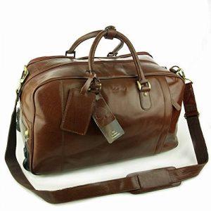 """Sac de voyage à roues en cuir """"Albert"""" signé Ashwood - Châtaigne Marron de la marque Ashwood Leather image 0 produit"""