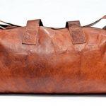 Sac de voyage - Barello Hemingway Duffle, bagage cabine vintage sac à bandoulière rétro bagage à main pour homme/femme, sac weekend véritable cuir de la marque Barello image 4 produit