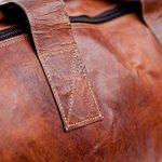 Sac de voyage - Barello Hemingway Duffle, bagage cabine vintage sac à bandoulière rétro bagage à main pour homme/femme, sac weekend véritable cuir de la marque Barello image 3 produit