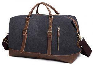 Sac de voyage EverVanz baise-en-ville extralarge en toile et bordures cuir avec bandoulière de la marque EverVanz image 0 produit