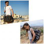 Sac de voyage EverVanz baise-en-ville extralarge en toile et bordures cuir avec bandoulière de la marque EverVanz image 1 produit