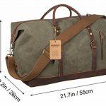Sac de voyage EverVanz baise-en-ville extralarge en toile et bordures cuir avec bandoulière de la marque EverVanz image 4 produit