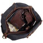 Sac de voyage EverVanz baise-en-ville extralarge en toile et bordures cuir avec bandoulière de la marque EverVanz image 6 produit