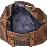 """Sac de voyage - Gusti Cuir studio"""" Ruben"""" bagage cabine vintage sac à bandoulière rétro bagage à main homme femme cuir de vachette marron 2R1-20-5wp S de la marque Gusti Leder studio image 4 produit"""