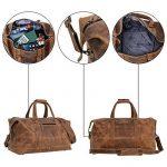 """Sac de voyage - Gusti Cuir studio"""" Ruben"""" bagage cabine vintage sac à bandoulière rétro bagage à main homme femme cuir de vachette marron 2R1-20-5wp S de la marque Gusti Leder studio image 2 produit"""