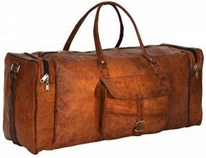 """Sac de voyage - Gusti Cuir studio"""" Toby"""" bagage cabine vintage sac de sport sac à bandoulière rétro bagage à main sac avec anses homme femme cuir de vachette marron R28b c de la marque Gusti Leder nature image 0 produit"""