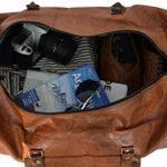 """Sac de voyage - Gusti Cuir studio"""" Toby"""" bagage cabine vintage sac de sport sac à bandoulière rétro bagage à main sac avec anses homme femme cuir de vachette marron R28b c de la marque Gusti Leder nature image 2 produit"""