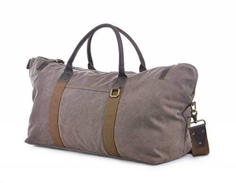 9c747b397e GOOTIUM 60615 Vintage Canvas Cuir Weekend Travel Duffle Bag Sac de Voyage,  52 cm, 40 L, Coffee de la marque Gootium