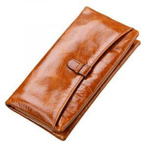 SAIERLONG® Femmes Wallet Zipper Cuir Véritable Portefeuille de la marque SAIERLONG image 0 produit