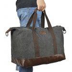 Sel Natural sac de voyage Toile Holdall grand sac à main de week-end Voyage Sac Totes Sac à bandoulière de la marque Sel Natural image 5 produit