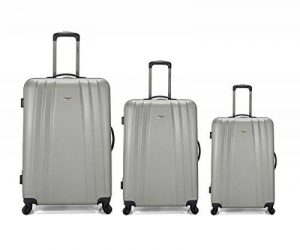 Set 3 valises trolley, valises rigides matériau léger ABS à quatre roues multidirectionnelles, dimensions: grande (70 cm), moyenne (60 cm) et la cabine (34 cm) de la marque Content Commerce Factory image 0 produit