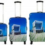 set à 3 vacances valises voyage bagages trolley coque rigide 4 roues legér motif PM de la marque Warenhandel König image 1 produit