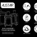 """Set de 3 Valises - Alistair """"Néobase"""" - Toile Nylon Ultra Légères - 4 Roues de la marque Alistair image 4 produit"""