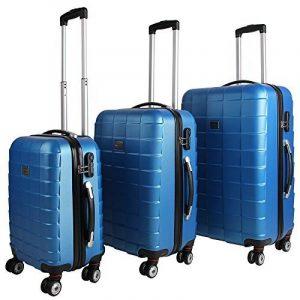 Set de 3 valises étui rigide avec verrou pour business voyage - coloris au choix de la marque Deuba image 0 produit