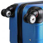 Set de 3 valises étui rigide avec verrou pour business voyage - coloris au choix de la marque Deuba image 3 produit