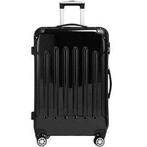Set de 3 Valises rigides Bagage Cadenas Roulettes jumelles Trolley Premium Solo de la marque Deuba image 0 produit