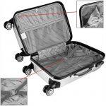 Set de 3 Valises rigides Bagage Cadenas Roulettes jumelles Trolley Premium Solo de la marque Deuba image 5 produit