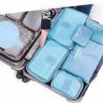 Set de 6pcs Sac Organisateur Voyage/ Emballage Valise 3 Cubes de Voyage + 3 Pochette Tailles Variées Trousse de Toilette Sac Pour Vêtements Serviettes Articles Cosmétiques, Meilleur Assistant Voyage de la marque Petite Fortune image 3 produit