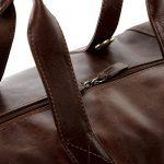 SID & VAIN sac de voyage BRISTOL - XL - besace weekend style Vintage - sac de sport châtain clair en cuir véritable de la marque SID & VAIN image 2 produit