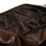 SID & VAIN sac de voyage BRISTOL - XL - besace weekend style Vintage - sac de sport châtain clair en cuir véritable de la marque SID & VAIN image 3 produit