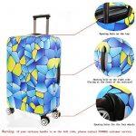 SINOKAL élastique Couvre bagages pour valises couverture de protection (Couverture seulement, ne comprend pas la valise) de la marque SINOKAL image 2 produit