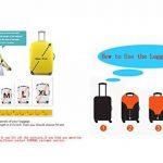 SINOKAL élastique Couvre bagages pour valises couverture de protection (Couverture seulement, ne comprend pas la valise) de la marque SINOKAL image 6 produit