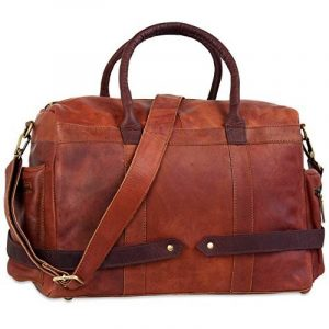 STILORD 'Travis' Sac de voyage cabine en cuir sac à bandoulière petit vintage pour homme femme sac pour week-end sport excursion en véritable cuir de buffle de la marque STILORD image 0 produit