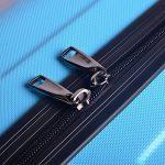 Sunydeal Valise cabine 36L / 58L / 80L - ABS ultra Léger - 4 roues - Bleu / Noir / Café - Garantie de 12 mois de la marque SUNYDEAL image 4 produit