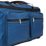 TecTake Grand sac de voyage XXL valise trolley à roulettes | 160 litres | poignée télescopique | diverses couleurs au choix de la marque TecTake image 5 produit