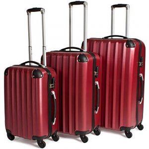 TecTake Lot de 3 Valises Trolley Valise Rigide à Roulettes - diverses couleurs au choix de la marque TecTake image 0 produit