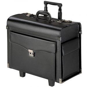 TecTake Pilot case trolley valise mallette de pilote sac à roulettes avec poignée télescopique verrouillable noir de la marque TecTake image 0 produit
