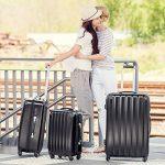 TecTake Polycarbonate multilayer set lot de 3 valises trolley noir valise rigide - avec serrure à combinaison intégrée - poignée télescopique - roulettes 360° de la marque TecTake image 1 produit