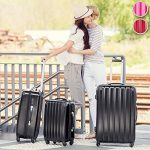 TecTake Polycarbonate Multilayer Set Lot de 3 valises Trolley valise - avec serrure à combinaison intégrée - poignée télescopique - roulettes 360° - diverses couleurs au choix - de la marque TecTake image 1 produit
