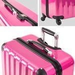 TecTake Polycarbonate Multilayer Set Lot de 3 valises Trolley valise - avec serrure à combinaison intégrée - poignée télescopique - roulettes 360° - diverses couleurs au choix - de la marque TecTake image 6 produit