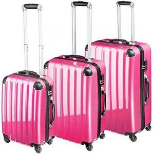 TecTake Polycarbonate Multilayer Set Lot de 3 valises Trolley valise - avec serrure à combinaison intégrée - poignée télescopique - roulettes 360° - diverses couleurs au choix - de la marque TecTake image 0 produit