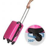 TecTake Polycarbonate Multilayer Set Lot de 3 valises Trolley valise - avec serrure à combinaison intégrée - poignée télescopique - roulettes 360° - diverses couleurs au choix - de la marque TecTake image 2 produit