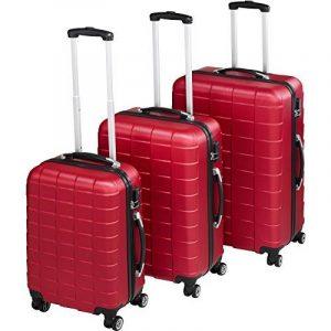 TecTake Set de 3 valises de voyage de ABS | avec serrure à combinaison intégrée | poignée télescopique | roulettes 360° | Bordeaux de la marque TecTake image 0 produit